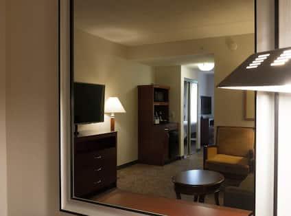 Junior Suite Living Area With TV