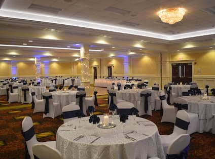Silver and Navy Wedding