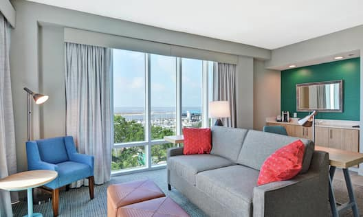 Gulf View Suite Living Area