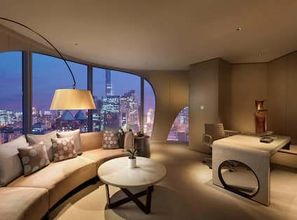 Executive King Suite with Lounge Area and Outside View