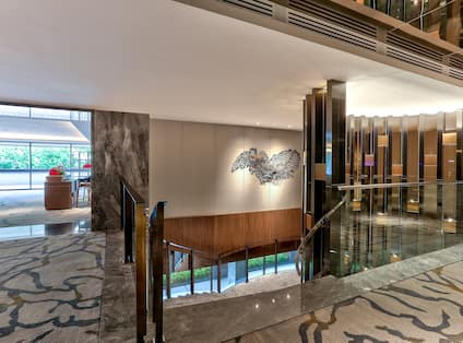 Lobby Foyer With Staircase