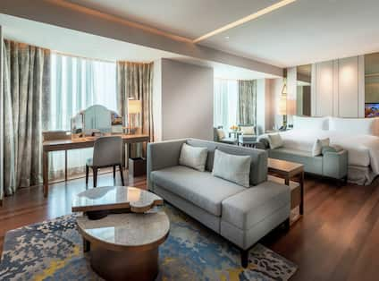 Presidential Suite Living and Bedroom area