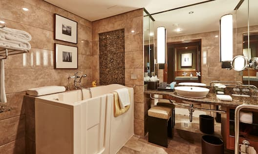 Accessible Guest Bathroom with Walk-In Tub