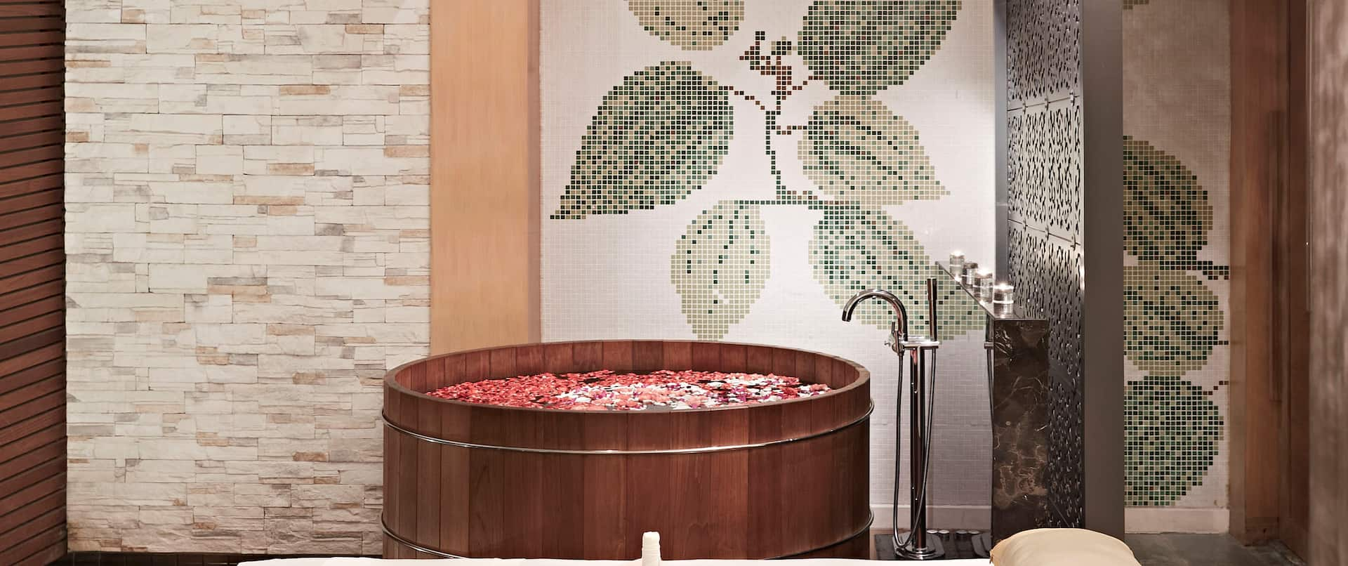 Spa Treatment Room with Massage Bed