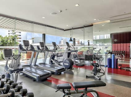 Keep in shape on your travels to Thailand in this fully-equipped fitness center