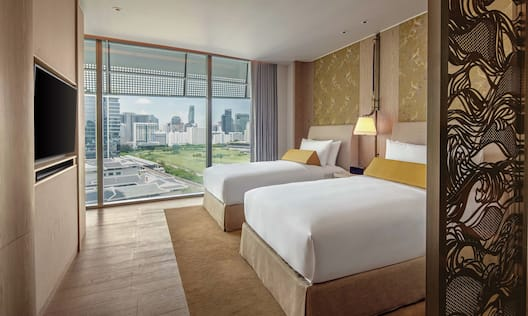 Twin Deluxe Room High Floor with Park View