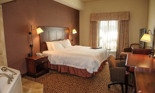 One King Bed Room with Whirlpool