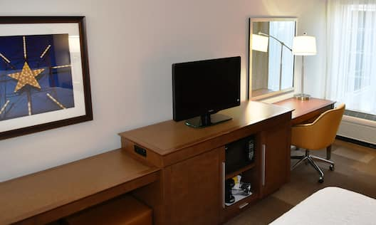 Work Desk and TV in Guest Room