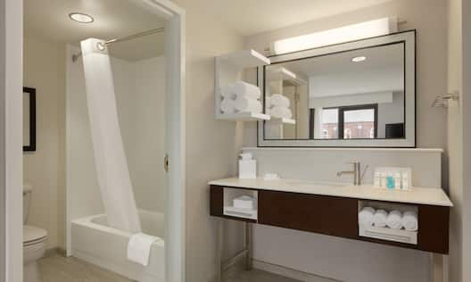 Room with Vanity and Tub