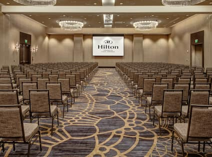 Meridian Ballroom with Auditorium Seating and Projection Screen