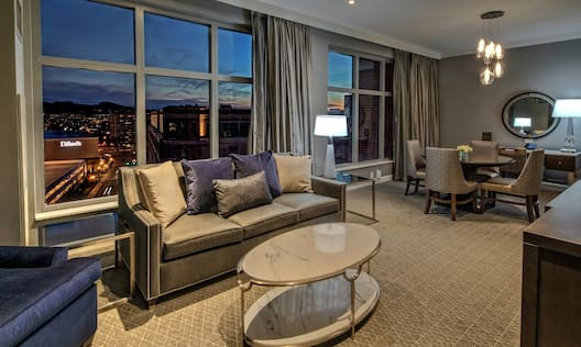 Suite Living Area with Lounge Area and Outside View