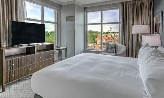 Single King Suite Guestroom Bedroom