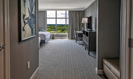 Double Queen Room with Desk and Large Windows