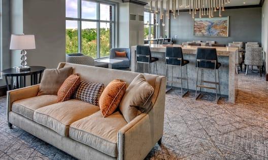 Executive Lounge with Large Sofa