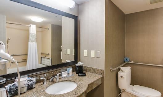2 Double Accessible Room Bath Area