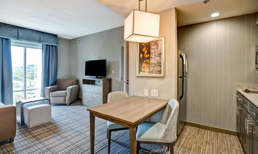 Suite Living Area with couch and tv