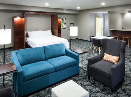 Studio Suite with Bed and Living Area