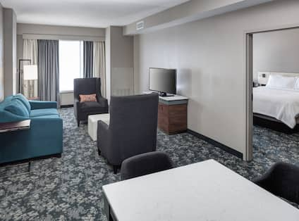 King Bedroom Suite bed and TV