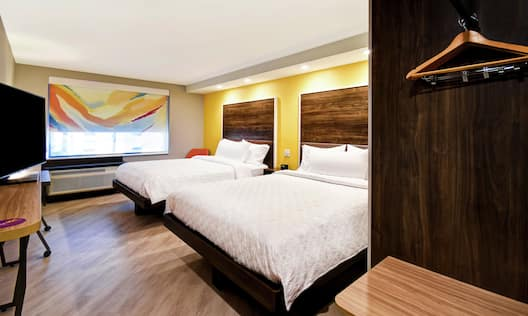 Guest Room with HDTV and Two Queen-Sized Beds