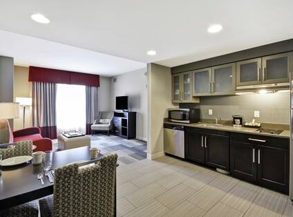 Overview of Kitchen and Suite Living Area