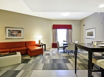 Double Queen Large One Bedroom Suite Living Area