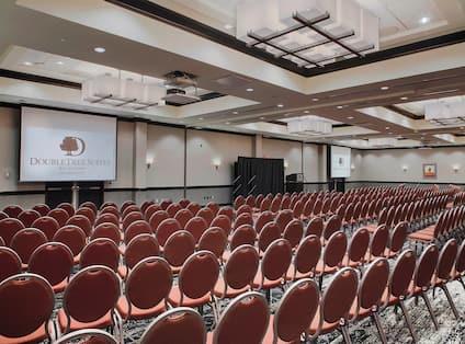 Ballroom set up for conference
