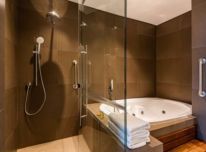 Bathtub and Separate Shower in Suite