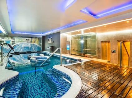 Indoor Pool area with sauna