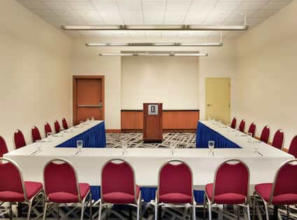 Maverick Meeting Room set up with Square Shaped Seating