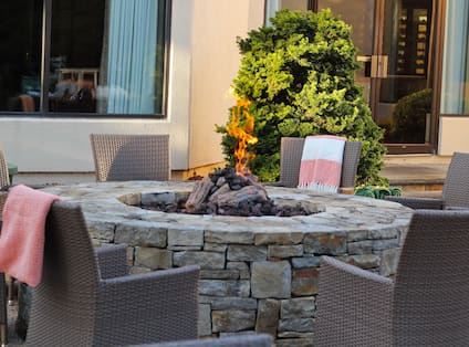 Outdoor Fire Pit Gathering