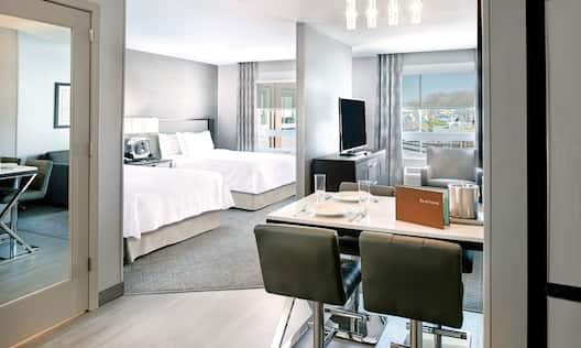 Queen Studio Suite Living Area