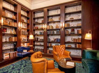 Seating Area at Hotel Library