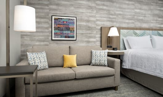 Guest Room with Large Sofa