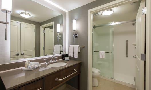 Walk-In Shower in Suite