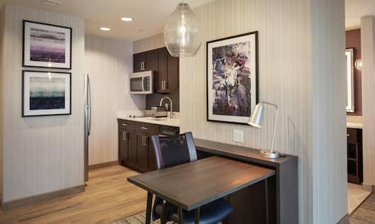 Suite Kitchen and Work Desk