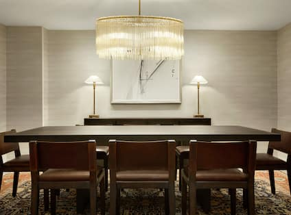 Presidential Suite Dining Area With Seating for Eight, Wall Art, and Illuminated Lamps