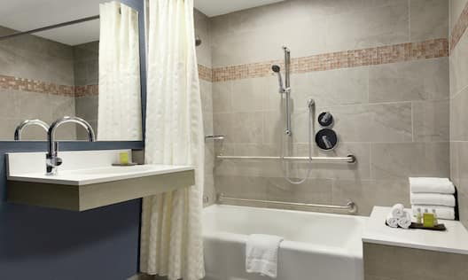 Accessible Bathroom with Tub and Amenities