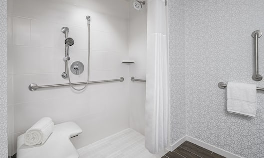 Accessible Bathroom Roll-in Shower