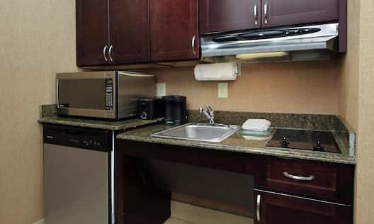 Accessible Suite Kitchen with Wheelchair Accessible Sink