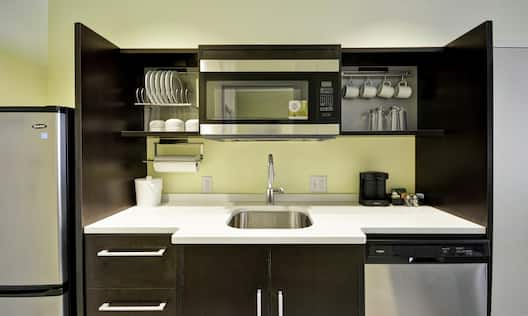 Front View of Guest Suite Kitchen Area