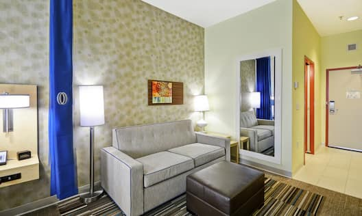 Studio Suite Living Area with Sofa Bed