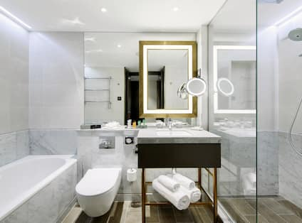 Superior Bathroom  with Tub and Shower