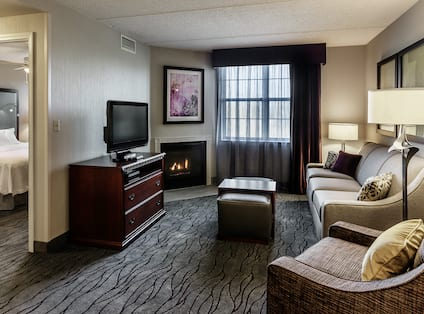 Suite with Fireplace