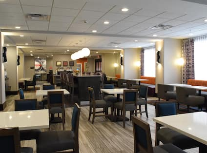 Hotel Breakfast Seating Area
