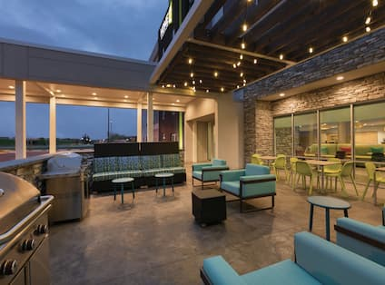 Outdoor Patio Seating and Grills