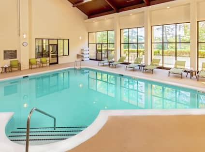 Take an Early Morning Splash in Our Indoor Pool