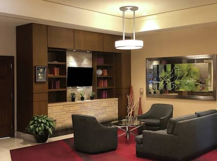 Lobby Seating and TV