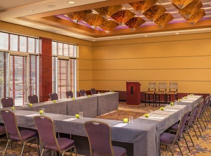 Meeting Room U-Shape Table Layout with Podium