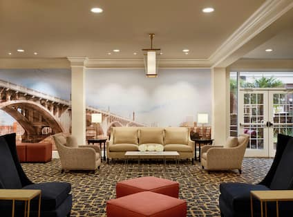 Hilton Lobby with Seating Area