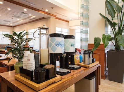 Coffee Station in Lobby Area